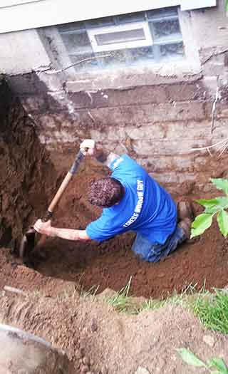 Normal Picture of A Guy Digging a Hole